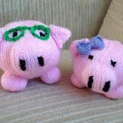 Porky and Patricia Pig - via @Craftsy