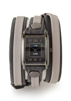 LA MER COLLECTIONS Two-Tone Layered Triple Wrap Watch, $49.99
