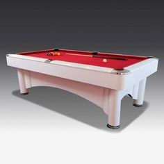 8ft Ice Pool table | The Games Room Company Owning a white pool table is a more original choice - and you can customise the cloth to make it even more attention grabbing