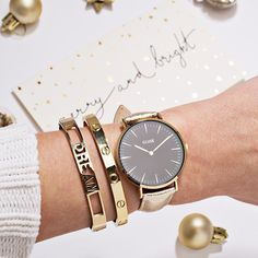 Merry and bright! Go for gold this Christmas with a metallic @cluse watch and accessories to match. #loveargento #CLUSE . . . . #argentojewellery #jewellery #watch #watches #wristshot #armcandy #layer #stack #bangles #gold #merrychristmas #merryandbright #shine #sparkle #dream #fblogger #ukblogger #details