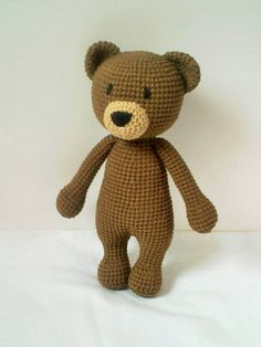 Handmade Crochet Koala Brown Teddy Bear by ElaMakrelaCrochet
