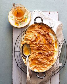 Old fashioned baked sago pudding