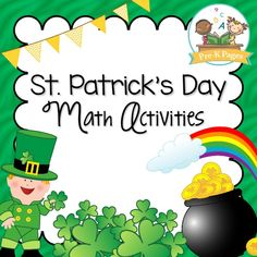 60 pages of fun, hands-on St. Patrick's Day math activities to help your pre-k and kindergarten students meet early learning standards.