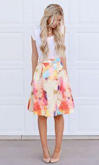 Look: Saia Floral + Scarpin