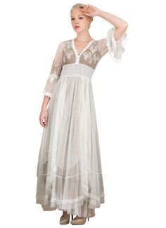 d302171b759 Bohemian Pompadour Dress in Ivory Beige by Nataya - SOLD OUT