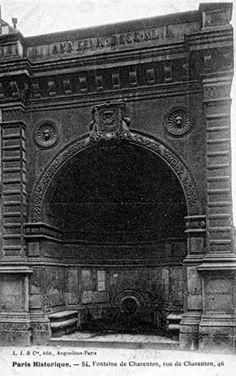 Rue de Charenton fontaine disparue - Paris