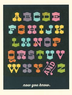 #alphabet #print #screenprint #design #type #walls #kids #playroom #kidsroom #learn #classroom #nursery
