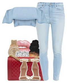 """1039"" by tuhlayjuh ❤ liked on Polyvore featuring Lime Crime, Rolex, Effy Jewelry, Chanel, Paige Denim, Boohoo and Givenchy"