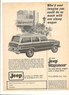 Original Vintage 1968 Jeep Wagoneer Australian Advert | eBay