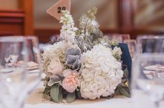 A frosty, peachy, navy colour palette for a classic wedding!