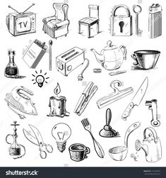 Household Home Objects Collection Hand Drawing Stock Vector How To Draw A Toothbrush In A Glass With A Pencil In Stages Pens To Brushes Small Objects Household Items Drawing Exercise Pencil Sketches Of Different Objects Clipart Pack 5948 Cool…Read More→ Art Drawings Sketches, Cool Drawings, Pencil Drawings, Chibi Pose, Art Reference Poses, Drawing Reference, Hobby Lobby Wall Art, Still Life Drawing, Object Drawing