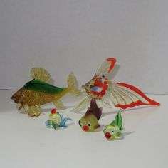 Vintage Lot of 5 Art Glass Fish Hand Blown. Starting at $3