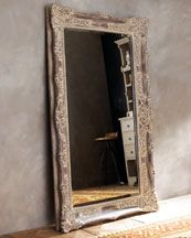 """""""Antique French"""" Floor Mirror  Free shipping with code DECFS on this and other items throughout the site when your order totals $50 or more. Additional Delivery & Processing charges (for item weight, size, and/or packaging) still apply. For details, click here.    A grand design and heavily distressed finish give this mirror all the appeal of the antique that inspired it. Frame is resin. 41""""W x 5""""D x 68""""T. Imported. $678"""