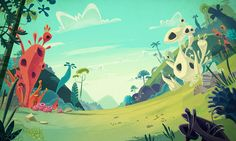James Gilleard (2015): Cartoon Backgrounds, via behance.net