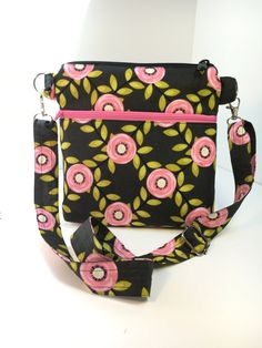FloralMid-Size Shoulder BagFloral by TwoBossyBritches on Etsy