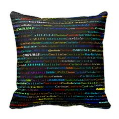 Carlisle Text Design I Throw Pillow