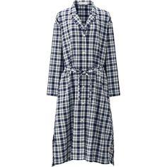 Women's Cotton Linen Long Sleeve Shirt Dress