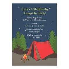 Camping Birthday Party | Boy Card