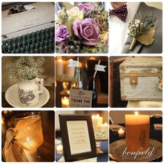 Details board from our photographer #vintage wedding