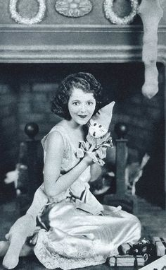 Merry Christmas from Janet Gaynor in 1929 by Silverbluestar, via Flickr
