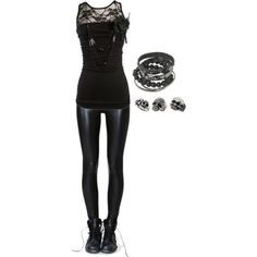 Punk / rock / style / cute girl outfits