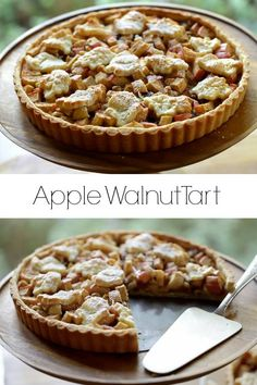 Cajun Delicacies Is A Lot More Than Just Yet Another Food Apple Walnut Tart Recipe. A Great Thanksgiving Day Dessert Idea Fall Dessert Recipes, Thanksgiving Desserts, Cookie Recipes, Thanksgiving Birthday, Dinner Recipes, Walnut Recipes, Apple Recipes, Cobbler, Sorbet