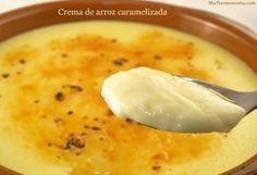 Cocina – Recetas y Consejos Spanish Desserts, No Cook Desserts, Rice Recipes, Vegan Recipes, Vegan Food, Food N, Food And Drink, Flan, Cheeseburger Chowder
