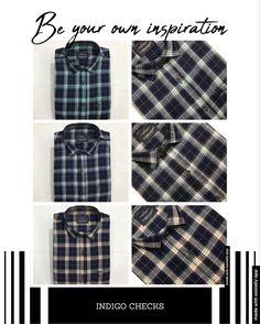 Casual Wear, Casual Shirts, Indigo, Plaid, How To Wear, Tops, Women, Fashion, Casual Outfits