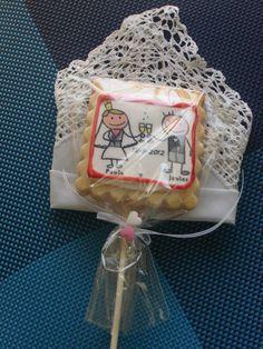 Detalles boda Javier y Paula, galletlas de chocolate, almendra, avellana y vainilla.