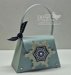 Stampin' Up! Petite Purse & Festive Flurry by Debbie Henderson, Debbie's Designs.