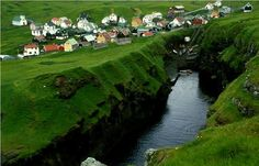Faroe Islands, Between Scotland and Norway.  These islands have always intrigued me....someday...