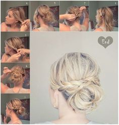 cool updo for mid length hair - Google Search...