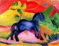 Franz Marc - Small blue horse