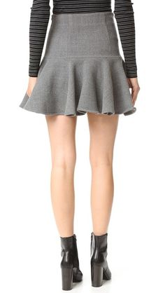 Milly Wool Flounce Skirt
