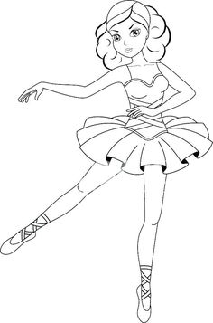 barbie ballerina coloring pages | Free Printable Ballerina Colouring PagesJlongok Printable ...