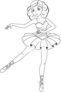 Free Printable Ballerina Colouring PagesJlongok Printable ...