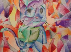 Spin on cubism.  Did this last year withthe 5th graders and they turned out great!
