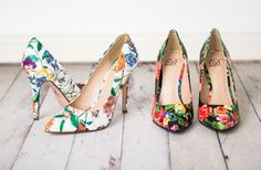 Charming Floral Pumps - 2 Colors!  - Main Photo