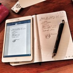 Livescribe 3 Smartpen - $150.  Simply write on paper and the Livescribe 3 smartpen captures all your notes.