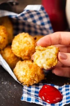 Baked Cheesy Potato Croquettes