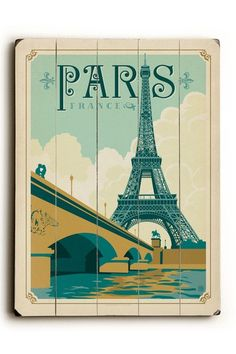 Paris, France Wood Wall Plaque by ArteHouse on @HauteLook