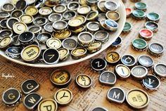 How to Make Typewriter Key Jewelry ~ A Tutorial
