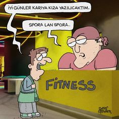 - İyi günler karıya kıza yazılıcaktım... + Spora lan spora... (Kaynak: Instagram - serefefendiler) #karikatür #mizah #matrak #komik #espri #şaka #gırgır #komiksözler #serefefendiler