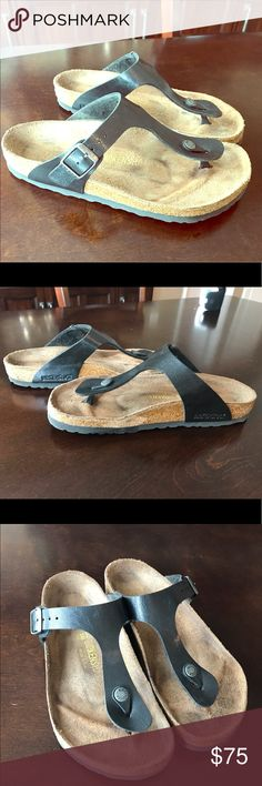Birkenstocks Birkenstocks sandals in EXCELLENT used condition! These have been used only a few times and well taken care of. Very, very clean bottoms too. Birkenstock Shoes Sandals