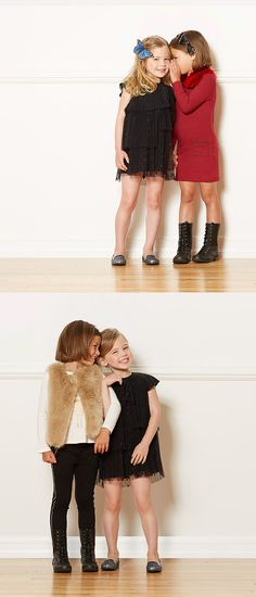 Happy-go-lucky in adorable dresses from Little Marc Jacobs.