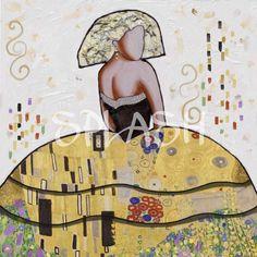 Cuadro Menina moderna Klimt decorativa moderna