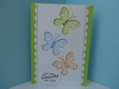Card made for a Papercraft Essentials commission using the free gift Free Gifts, Butterflies, Card Making, Essentials, Cards, Design, Promotional Giveaways, Butterfly