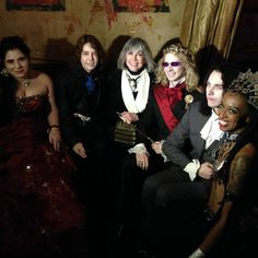 Some of the brightest lights at the Lestat Ball: Pandora, Armand, Prince Lestat with his crown, Louis and Akasha. Thanks to Meracky Kadman Auzenhalf for the photo. (Hallowe'en 2014). From Anne Rice's Facebook Page.