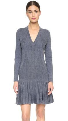 Cushnie et Ochs Long Sleeve Cashmere Dress