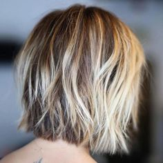 100 Mind-Blowing Short Hairstyles for Fine Hair - - Shaggy Blonde Balayage Bob Bob Style Haircuts, Bob Hairstyles For Fine Hair, Layered Bob Hairstyles, Haircuts For Fine Hair, Hairstyles Haircuts, Haircut Bob, Haircut Short, Pixie Haircuts, Wedding Hairstyles